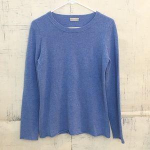 J. Crew 100% Cashmere Blue Crew Neck Sweater